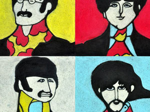 The Beatles Yellow Submarine - view from top