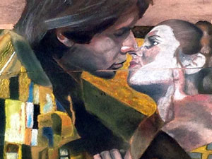 The Kiss by Klimt featuring Han & Leia detail