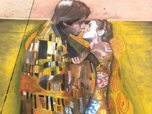 The Kiss by Klimt featuring Han & Leia
