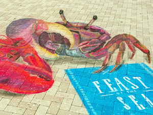 West Palm Beach Feast of the Sea crab and lobster 3D