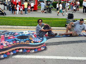 West Palm Beach 4th on Flagler Festival Decorated Guitar 3D