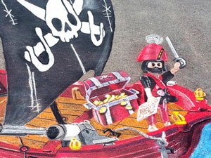 Playmobil pirate ship 3D