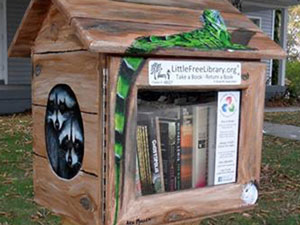 Wildlife Little Free Library collage