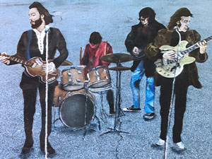 Beatles rooftop concert 3D pavement art