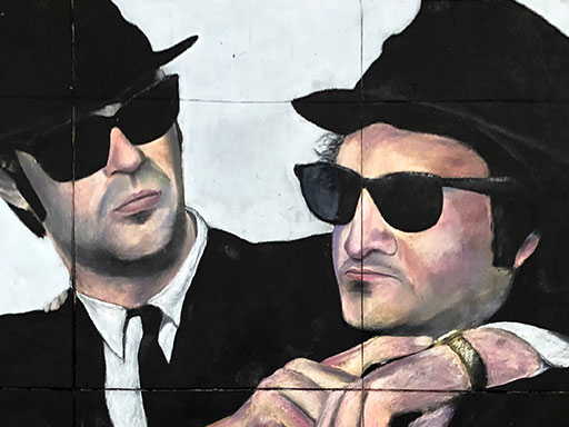 The Blues Brothers chalk art