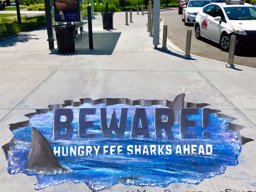 Fifth Third Bank Fee Sharks pavement chalk art